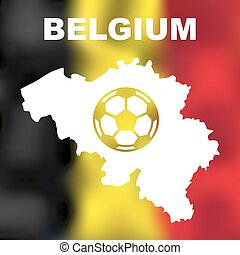 Belgian Abstract Map - Abstract belgian map on flag...
