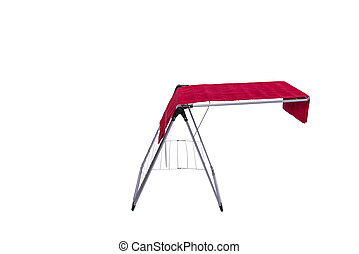 Collapsible clotheshorse isolated on the white background