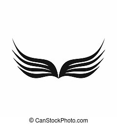 Wing icon, simple style - Wing icon in simple style isolated...