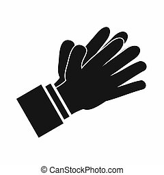 Clapping applauding hands icon, simple style - Clapping...