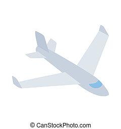 Big plane icon, isometric 3d style - Big plane icon in...