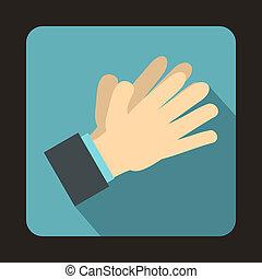apartamento, estilo,  clapping, aplaudindo, mãos, ícone
