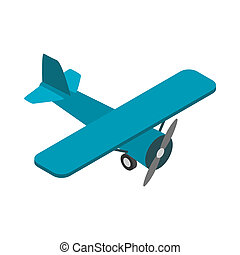 Light aircraft icon, isometric 3d style - Light aircraft...