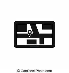 navegación, icono, simple, estilo