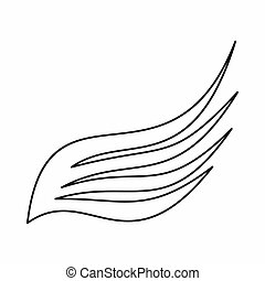 Wing icon, outline style - Wing icon in outline style...