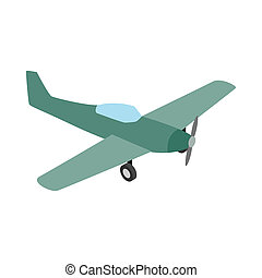 Small plane icon, isometric 3d style - Small plane icon in...