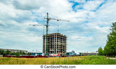 construction of a house, taymlaps - construction of a...