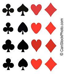 SÍMBOLOS, tocando, cartão