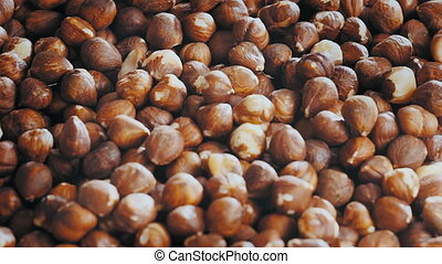 the industrial preparation of roasted hazelnuts