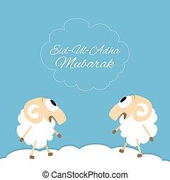 Eid-al-adha greeting card - Eid-al-adha Mubarak Muslim...