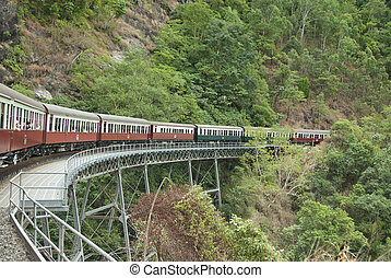 Kuranda Train to Cairns - View from the Kuranda-Cairns Train...