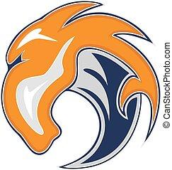 Horse bronco head vector logo