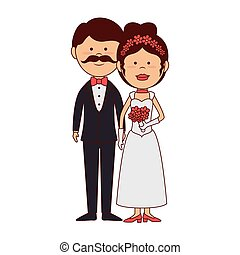 marriage wedding husbands love icon vector graphic