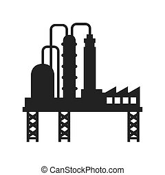 plant oil industry icon vector graphic - plant chemistry...