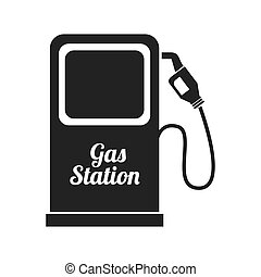 gas pump station icon vector graphic