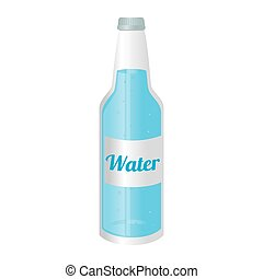 water natural bottle glass icon vector graphic