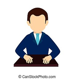 man executive suit tie business  icon vector graphic