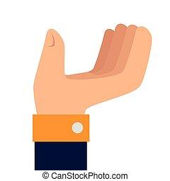 hand take person icon vector graphic