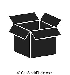 box package open icon vector graphic