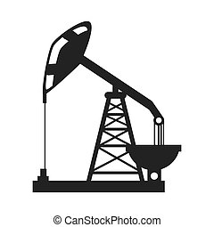 tower industry drilling icon vector graphic - oil rig tower...