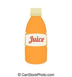 bottle orange juice icon vector graphic