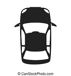 car vehicle top icon vector graphic - vehicle top...