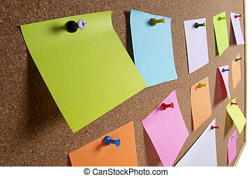 Notice board background - Cork office notice board with...