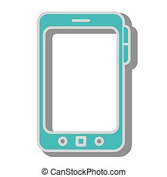 smartphone screen mobile icon vector graphic - smartphone...