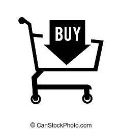cart online shopper sale buy  shopping icon vector graphic