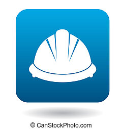 Construction helmet icon in simple style - icon in simple...