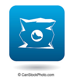 Used packaging icon in simple style - icon in simple style...