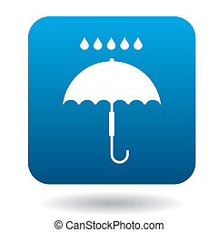 Umbrella icon in simple style - icon in simple style on a...