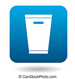 Trash can icon in simple style