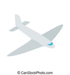 Passenger plane icon, isometric 3d style - Passenger plane...