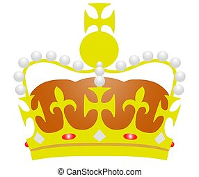 Illustrated-Crown - Illustration of a Royal Crown