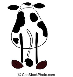 Dairy cow back