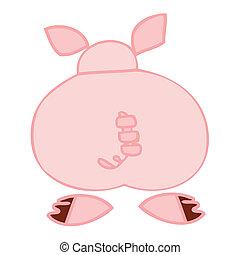 Funny pig back.