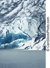 Mendenhall Glacier - Close Fragment of Mendenhall Glacier...