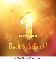 September 1st Back To School background withwith gold maple...