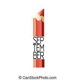 September 1st Back To School background with pencil Design...