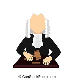 judge law man vector graphic icon
