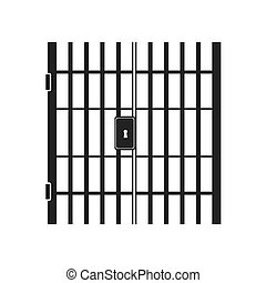 jail bars key hole vector graphic icon - jail bars key hole...