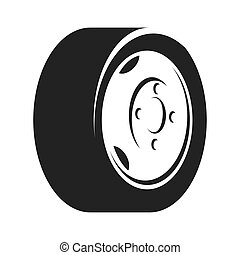 tire wheel car rim vector graphic icon