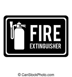 fire extinguisher sign icon vector graphic