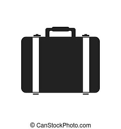 suitcase travel bag icon vector graphic - suitcase travel...