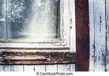 legno, finestra, parte