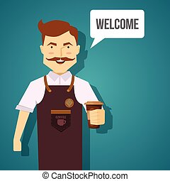 Barista Character Design - Barista character design with...