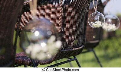 Flowers decoration for wedding ceremony, wedding celebrating...