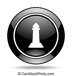 chess black glossy icon