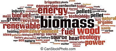 Biomass-horizon.eps - Biomass word cloud concept. Vector...